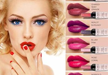 6 Shades Set Wine Bottle Lip gloss Tint Water Proof Lipstick Tint, Long Lasting Kiss proof