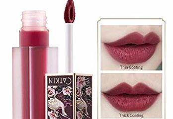 CATKIN Liquid Lipstick,Matte Lip Gloss Velvety Silky Smooth Natural Waterproof Long Lasting Non-Stick Cup Moisturizer Makeup-C06