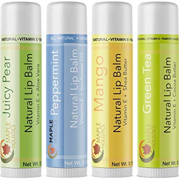 Natural Lip Balm For Women And Men Flavored Lip Repair Treatment For Dry Lips Therapeutic Lip Remedy