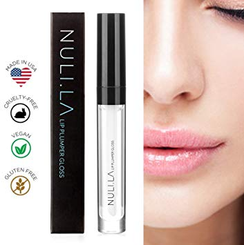 Nuli La Lip Plumper Lip Gloss is all Natural Serum with Vitamin E, Antioxidants and Hydrating Skin