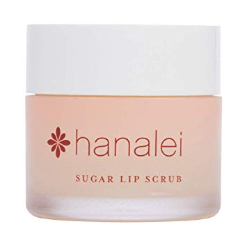 Sugar Lip Scrub by Hanalei Company, Made with Raw Cane Sugar and Real Hawaiian Kukui Nut Oil