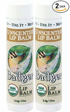 Badger Unscented Classic Lip Balm