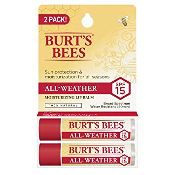 Burt's Bees 100% Natural All-Weather SPF15 Moisturizing Lip Balm