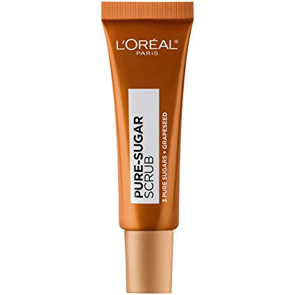 L'Oreal Paris Skincare Pure Sugar Lip Scrub with Grapeseed