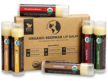USDA Organic Lip Balm 6-Pack by Earth's Daughter