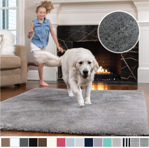 Gorilla Grip Original Faux-Chinchilla Area Rug