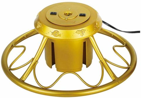 Home Heritage Golden Rotating Christmas Tree Stand