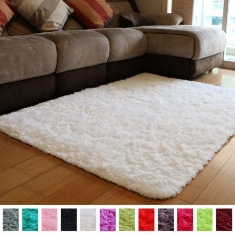 PAGISOFE Soft Comfy White Area Rugs for Bedroom Living Room