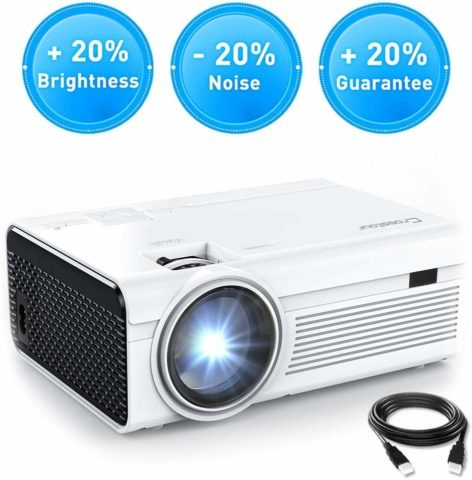 Projector, Crosstour Mini LED Video Projector