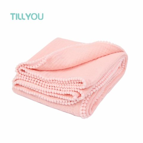 TILLYOU 100% Soft Cotton Muslin Swaddle