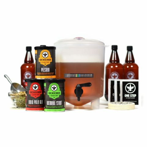 "#5. BrewDemon-Craft-Beer-Kit-Bottles  Allows sediment to settle   <a href="" http://www.amazon.com/dp/""B07RYNRKY9""?tag=bes1review-20"" rel=""nofollow"" target=""_blank"" class=""amz-btn-txt"">Check It On Amazon </a>  Brew-Demon Craft-beer-making kit is from Demon Company. This conical-fermenter is an ONLY system that lets the residue settle beneath the bottle-filling valve, unlike other non-conical fermenters. The package comes with One Evil-Pilsner formula kit - that is a smooth, light and refreshing beer.  The product lets you focus on the recipe but not the brewing process. The beer can brew in 15 minutes. The product comes with a gallon-kit to add bottles plus a bottle-filling-valve. There is no necessity to siphon to a bottle, the only thing you need is to turn your valve & fill the bottles."