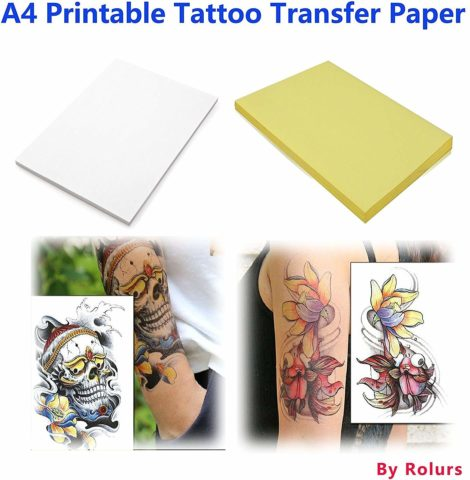 10 Sheets DIY A4 Temporary Tattoo Transfer Paper Printable
