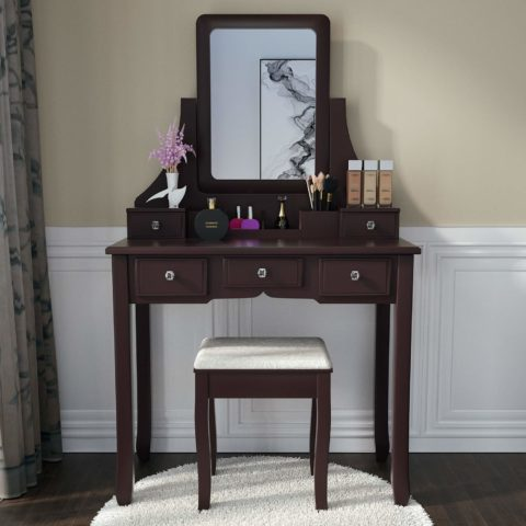 Amooly Vanity Set with Mirror