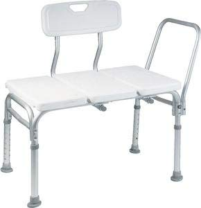 BATHTUB TRANSFER BENCH  BATH CHAIR WITH BACK