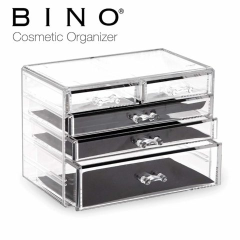 BINO 5 Drawer Acrylic Jewelry and Makeup Organizer