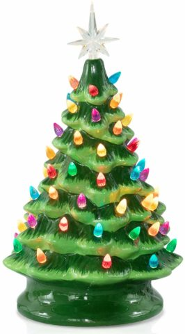 Brightown Ceramic Christmas Tree, Battery
