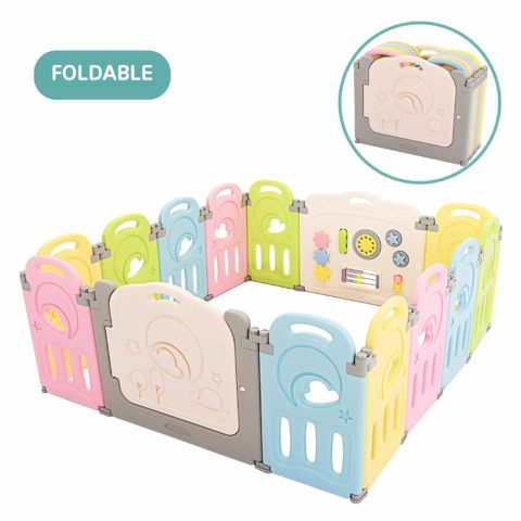 Fortella Cloud Castle Foldable Playpen, Baby Safety Play