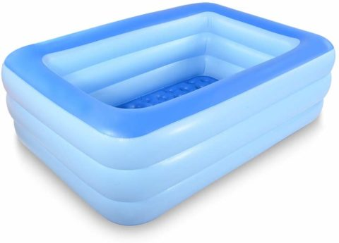 HIWENA Inflatable Family Swim Center Pool,