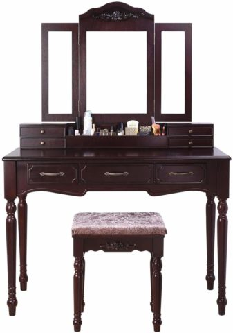HOMECHO Vanity Table Set Makeup Dressing Desk