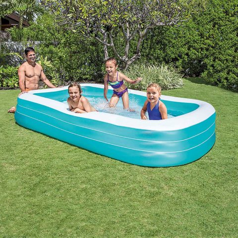 Intex Swim Center Family Inflatable Pool, 120 X 72 X 22