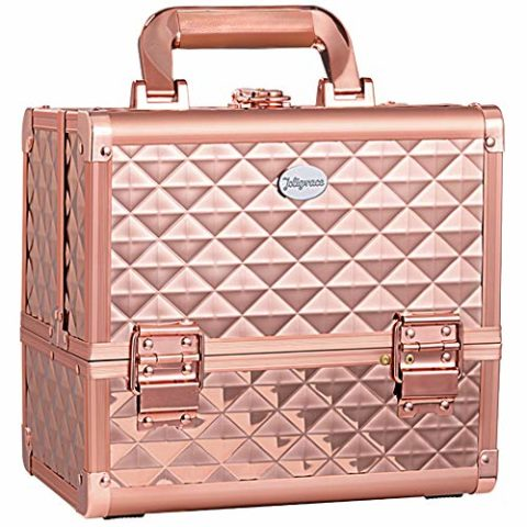Joligrace Makeup Train Case Cosmetic Box