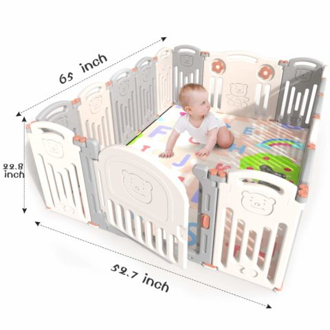Kidsclub Baby 16 Panel Playpen Activity