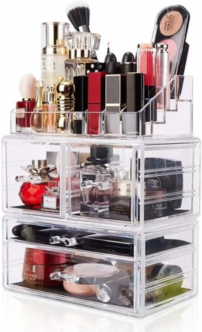 Makeup Organizer 3 Pieces Acrylic Cosmetic