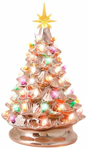 Melunar Ceramic Christmas Tree, 15 Inche