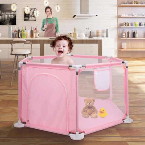 Playpen for Baby, Johgee Kids 6-Panel Portable