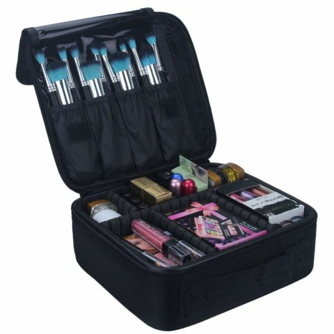 Relavel Travel Makeup Train Case Makeup Cosmetic