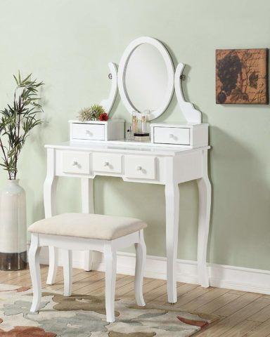 Roundhill Furniture Ashley Wood Make-Up