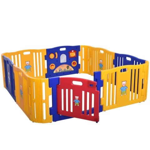 Sandinrayli Baby Playpen Kids 8+4 Panel Safety