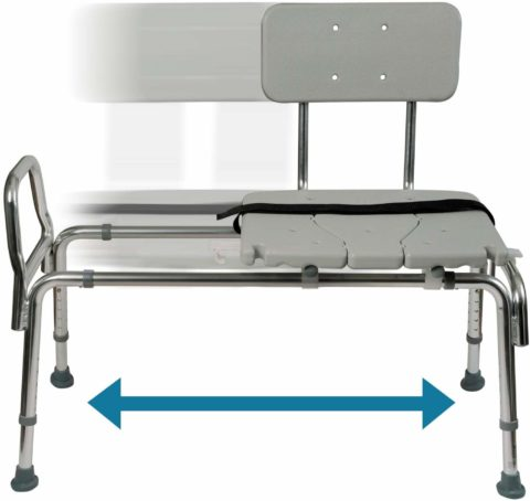 Tub Transfer Bench and Sliding Shower Chair