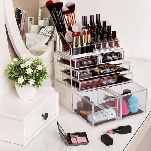 blife Makeup Organizer 3 Pieces Acrylic Cosmetic