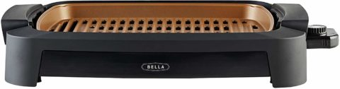 BELLA (14750) 12 x 16 Inch Copper Titanium Coated Indoor Smokeless Grill