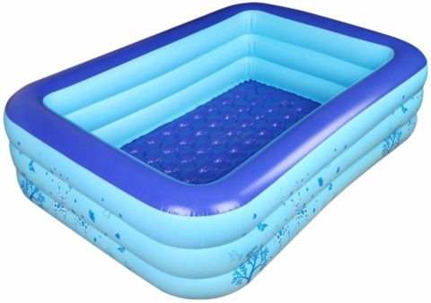 Dressbar 70inX55inX22in Inflatable Pool Inflated Swimming