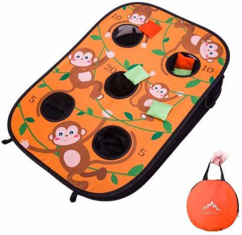 Himal Collapsible Portable 5 Holes Cornhole Game Cornhole Set