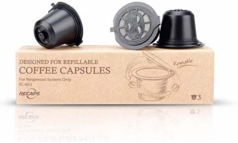 RECAPS Refillable Coffee Pods Reusable Capsules Compatible with Nespresso