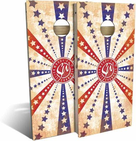 Slick Woody'S Stars and Stripes Cornhole Set