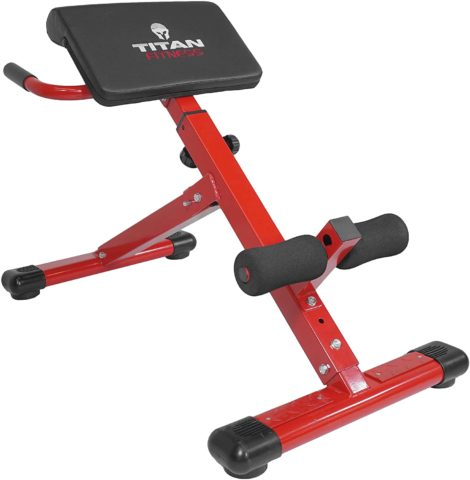 Titan Abs Back Hyper Extension Exercise Bench Roman Chair X