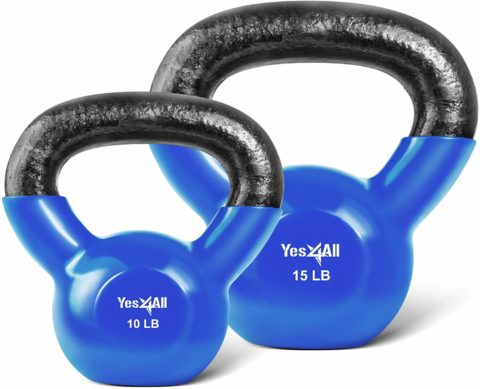 Yes4All Combo Special Vinyl Coated Kettlebell Weight Sets